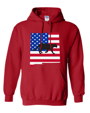 Load image into Gallery viewer, Pullover Hooded Sweatshirt New Mexico Red Mountain Lion Vibrant Design High Quality Tight Knit Ring Spun Low Maintenance Cotton Printed With The Newest Available Color Transfer Technology