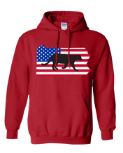 Load image into Gallery viewer, Pullover Hooded Sweatshirt Pennsylvania Red Mountain Lion Vibrant Design High Quality Tight Knit Ring Spun Low Maintenance Cotton Printed With The Newest Available Color Transfer Technology