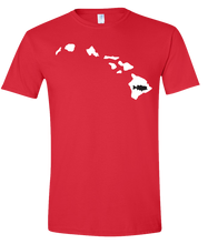 Load image into Gallery viewer, Short Sleeve T-Shirt Hawaii Red Large Mouth Bass Vibrant Design High Quality Tight Knit Ring Spun Low Maintenance Cotton Printed With The Newest Available Color Transfer Technology