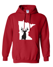 Load image into Gallery viewer, Pullover Hooded Sweatshirt Minnesota Red Whitetail Deer Vibrant Design High Quality Tight Knit Ring Spun Low Maintenance Cotton Printed With The Newest Available Color Transfer Technology