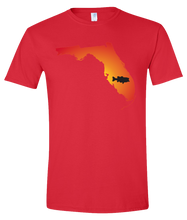 Load image into Gallery viewer, Short Sleeve T-Shirt Florida Red Large Mouth Bass Vibrant Design High Quality Tight Knit Ring Spun Low Maintenance Cotton Printed With The Newest Available Color Transfer Technology