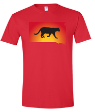 Load image into Gallery viewer, Short Sleeve T-Shirt South Dakota Red Mountain Lion Vibrant Design High Quality Tight Knit Ring Spun Low Maintenance Cotton Printed With The Newest Available Color Transfer Technology