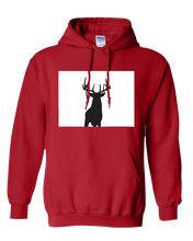 Load image into Gallery viewer, Pullover Hooded Sweatshirt Colorado Red Whitetail Deer Vibrant Design High Quality Tight Knit Ring Spun Low Maintenance Cotton Printed With The Newest Available Color Transfer Technology