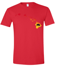 Load image into Gallery viewer, Short Sleeve T-Shirt Hawaii Red Wild Hog Vibrant Design High Quality Tight Knit Ring Spun Low Maintenance Cotton Printed With The Newest Available Color Transfer Technology