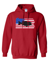 Load image into Gallery viewer, Pullover Hooded Sweatshirt Pennsylvania Red Large Mouth Bass Vibrant Design High Quality Tight Knit Ring Spun Low Maintenance Cotton Printed With The Newest Available Color Transfer Technology