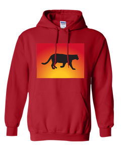 Pullover Hooded Sweatshirt Colorado Red Mountain Lion Vibrant Design High Quality Tight Knit Ring Spun Low Maintenance Cotton Printed With The Newest Available Color Transfer Technology