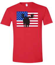 Load image into Gallery viewer, Short Sleeve T-Shirt Colorado Red Moose Vibrant Design High Quality Tight Knit Ring Spun Low Maintenance Cotton Printed With The Newest Available Color Transfer Technology