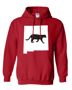 Pullover Hooded Sweatshirt New Mexico Red Mountain Lion Vibrant Design High Quality Tight Knit Ring Spun Low Maintenance Cotton Printed With The Newest Available Color Transfer Technology