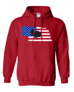 Pullover Hooded Sweatshirt Nebraska Red Turkey Vibrant Design High Quality Tight Knit Ring Spun Low Maintenance Cotton Printed With The Newest Available Color Transfer Technology