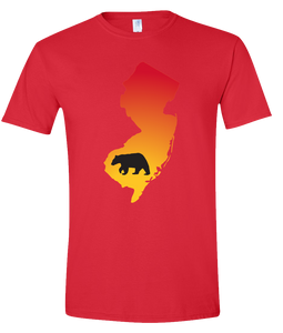 Short Sleeve T-Shirt New Jersey Red Black Bear Vibrant Design High Quality Tight Knit Ring Spun Low Maintenance Cotton Printed With The Newest Available Color Transfer Technology
