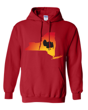 Load image into Gallery viewer, Pullover Hooded Sweatshirt New York Red Turkey Vibrant Design High Quality Tight Knit Ring Spun Low Maintenance Cotton Printed With The Newest Available Color Transfer Technology