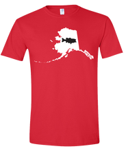 Load image into Gallery viewer, Short Sleeve T-Shirt Alaska Red Large Mouth Bass Vibrant Design High Quality Tight Knit Ring Spun Low Maintenance Cotton Printed With The Newest Available Color Transfer Technology