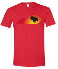 Load image into Gallery viewer, Short Sleeve T-Shirt Kentucky Red Turkey Vibrant Design High Quality Tight Knit Ring Spun Low Maintenance Cotton Printed With The Newest Available Color Transfer Technology