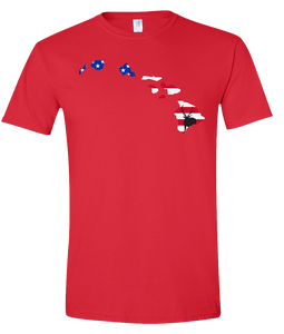 Short Sleeve T-Shirt Hawaii Red Axis Deer Vibrant Design High Quality Tight Knit Ring Spun Low Maintenance Cotton Printed With The Newest Available Color Transfer Technology