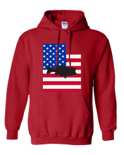 Load image into Gallery viewer, Pullover Hooded Sweatshirt Utah Red Large Mouth Bass Vibrant Design High Quality Tight Knit Ring Spun Low Maintenance Cotton Printed With The Newest Available Color Transfer Technology