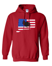 Load image into Gallery viewer, Pullover Hooded Sweatshirt Connecticut Red Turkey Vibrant Design High Quality Tight Knit Ring Spun Low Maintenance Cotton Printed With The Newest Available Color Transfer Technology
