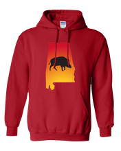 Load image into Gallery viewer, Pullover Hooded Sweatshirt Alabama Red Wild Hog Vibrant Design High Quality Tight Knit Ring Spun Low Maintenance Cotton Printed With The Newest Available Color Transfer Technology