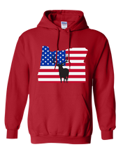 Load image into Gallery viewer, Pullover Hooded Sweatshirt Oregon Red Elk Vibrant Design High Quality Tight Knit Ring Spun Low Maintenance Cotton Printed With The Newest Available Color Transfer Technology