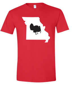 Short Sleeve T-Shirt Missouri Red Turkey Vibrant Design High Quality Tight Knit Ring Spun Low Maintenance Cotton Printed With The Newest Available Color Transfer Technology