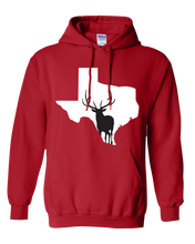 Load image into Gallery viewer, Pullover Hooded Sweatshirt Texas Red Elk Vibrant Design High Quality Tight Knit Ring Spun Low Maintenance Cotton Printed With The Newest Available Color Transfer Technology