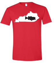 Load image into Gallery viewer, Short Sleeve T-Shirt Kentucky Red Large Mouth Bass Vibrant Design High Quality Tight Knit Ring Spun Low Maintenance Cotton Printed With The Newest Available Color Transfer Technology