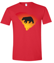 Load image into Gallery viewer, Short Sleeve T-Shirt South Carolina Red Black Bear Vibrant Design High Quality Tight Knit Ring Spun Low Maintenance Cotton Printed With The Newest Available Color Transfer Technology