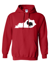 Load image into Gallery viewer, Pullover Hooded Sweatshirt Kentucky Red Turkey Vibrant Design High Quality Tight Knit Ring Spun Low Maintenance Cotton Printed With The Newest Available Color Transfer Technology