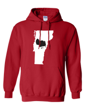 Load image into Gallery viewer, Pullover Hooded Sweatshirt Vermont Red Turkey Vibrant Design High Quality Tight Knit Ring Spun Low Maintenance Cotton Printed With The Newest Available Color Transfer Technology