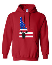 Load image into Gallery viewer, Pullover Hooded Sweatshirt Idaho Red Moose Vibrant Design High Quality Tight Knit Ring Spun Low Maintenance Cotton Printed With The Newest Available Color Transfer Technology