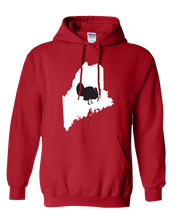 Load image into Gallery viewer, Pullover Hooded Sweatshirt Maine Red Turkey Vibrant Design High Quality Tight Knit Ring Spun Low Maintenance Cotton Printed With The Newest Available Color Transfer Technology