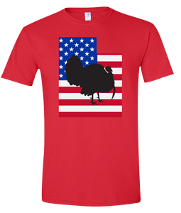 Short Sleeve T-Shirt Utah Red Turkey Vibrant Design High Quality Tight Knit Ring Spun Low Maintenance Cotton Printed With The Newest Available Color Transfer Technology