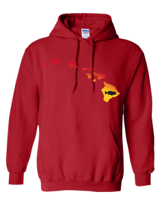 Pullover Hooded Sweatshirt Hawaii Red Large Mouth Bass Vibrant Design High Quality Tight Knit Ring Spun Low Maintenance Cotton Printed With The Newest Available Color Transfer Technology