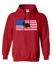 Load image into Gallery viewer, Pullover Hooded Sweatshirt Kansas Red Turkey Vibrant Design High Quality Tight Knit Ring Spun Low Maintenance Cotton Printed With The Newest Available Color Transfer Technology
