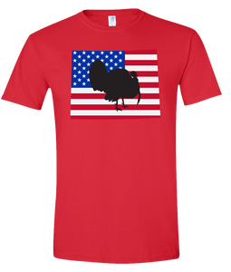 Short Sleeve T-Shirt Wyoming Red Turkey Vibrant Design High Quality Tight Knit Ring Spun Low Maintenance Cotton Printed With The Newest Available Color Transfer Technology