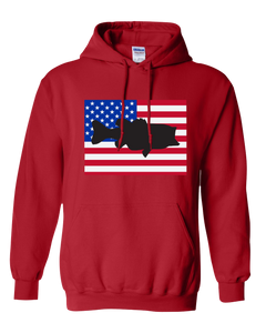 Pullover Hooded Sweatshirt Colorado Red Large Mouth Bass Vibrant Design High Quality Tight Knit Ring Spun Low Maintenance Cotton Printed With The Newest Available Color Transfer Technology