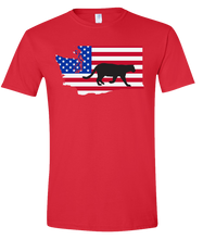 Load image into Gallery viewer, Short Sleeve T-Shirt Washington Red Mountain Lion Vibrant Design High Quality Tight Knit Ring Spun Low Maintenance Cotton Printed With The Newest Available Color Transfer Technology