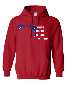 Pullover Hooded Sweatshirt Maryland Red Black Bear Vibrant Design High Quality Tight Knit Ring Spun Low Maintenance Cotton Printed With The Newest Available Color Transfer Technology