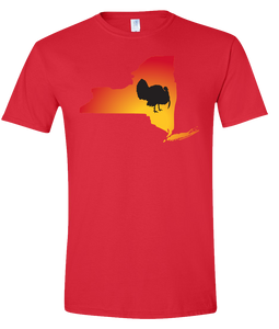 Short Sleeve T-Shirt New York Red Turkey Vibrant Design High Quality Tight Knit Ring Spun Low Maintenance Cotton Printed With The Newest Available Color Transfer Technology