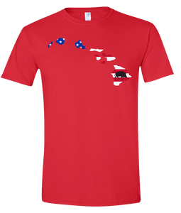 Short Sleeve T-Shirt Hawaii Red Wild Hog Vibrant Design High Quality Tight Knit Ring Spun Low Maintenance Cotton Printed With The Newest Available Color Transfer Technology