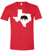 Load image into Gallery viewer, Short Sleeve T-Shirt Texas Red Wild Hog Vibrant Design High Quality Tight Knit Ring Spun Low Maintenance Cotton Printed With The Newest Available Color Transfer Technology