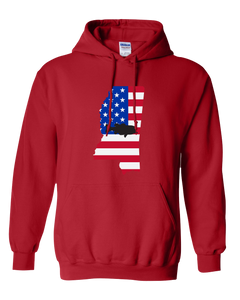 Pullover Hooded Sweatshirt Mississippi Red Large Mouth Bass Vibrant Design High Quality Tight Knit Ring Spun Low Maintenance Cotton Printed With The Newest Available Color Transfer Technology
