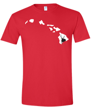 Load image into Gallery viewer, Short Sleeve T-Shirt Hawaii Red Axis Deer Vibrant Design High Quality Tight Knit Ring Spun Low Maintenance Cotton Printed With The Newest Available Color Transfer Technology