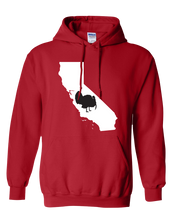 Load image into Gallery viewer, Pullover Hooded Sweatshirt California Red Turkey Vibrant Design High Quality Tight Knit Ring Spun Low Maintenance Cotton Printed With The Newest Available Color Transfer Technology