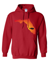 Load image into Gallery viewer, Pullover Hooded Sweatshirt Florida Red Large Mouth Bass Vibrant Design High Quality Tight Knit Ring Spun Low Maintenance Cotton Printed With The Newest Available Color Transfer Technology