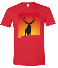 Load image into Gallery viewer, Short Sleeve T-Shirt New Mexico Red Mule Deer Vibrant Design High Quality Tight Knit Ring Spun Low Maintenance Cotton Printed With The Newest Available Color Transfer Technology