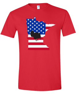 Short Sleeve T-Shirt Minnesota Red Turkey Vibrant Design High Quality Tight Knit Ring Spun Low Maintenance Cotton Printed With The Newest Available Color Transfer Technology