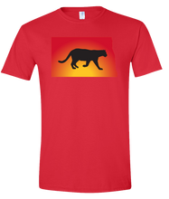 Load image into Gallery viewer, Short Sleeve T-Shirt North Dakota Red Mountain Lion Vibrant Design High Quality Tight Knit Ring Spun Low Maintenance Cotton Printed With The Newest Available Color Transfer Technology