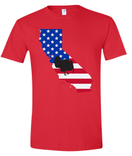 Load image into Gallery viewer, Short Sleeve T-Shirt California Red Turkey Vibrant Design High Quality Tight Knit Ring Spun Low Maintenance Cotton Printed With The Newest Available Color Transfer Technology