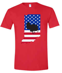 Short Sleeve T-Shirt Indiana Red Turkey Vibrant Design High Quality Tight Knit Ring Spun Low Maintenance Cotton Printed With The Newest Available Color Transfer Technology