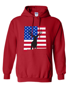 Pullover Hooded Sweatshirt New Mexico Red Mule Deer Vibrant Design High Quality Tight Knit Ring Spun Low Maintenance Cotton Printed With The Newest Available Color Transfer Technology